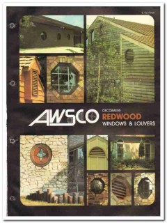 American Woodwork Specialty Company 1982 Vintage Catalog Window Louver