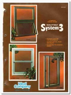 Ideal Company 1982 Vintage Catalog Window Qualitybilt System 3