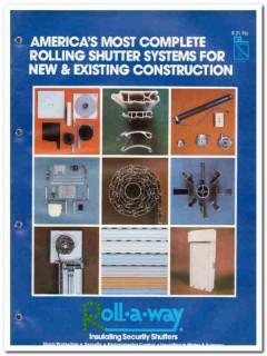 Prime Marketing Group Inc 1982 Vintage Catalog Door Roll-A-Way Shutter