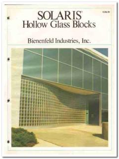 Bienenfeld Industries Inc 1982 Vintage Catalog Glass Blocks Hollow