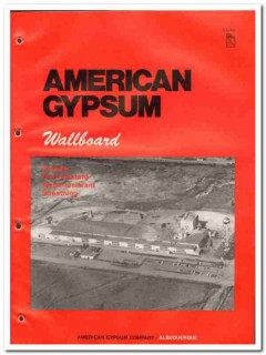 American Gypsum Company 1982 Vintage Catalog Wallboards Fire Water