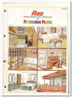 PPG Industries Inc 1982 Vintage Catalog Rez Paint Wood Stain Varnishes