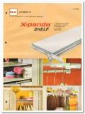 H C Products Company 1982 Vintage Catalog Steel Shelving X-Panda Shelf