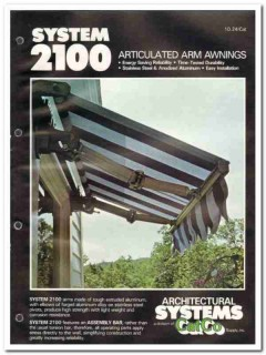 Catco Supply Inc 1982 Vintage Catalog Awnings Articulated Arm System