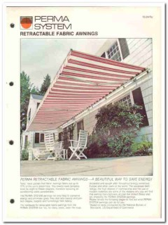 Perma System Sun Control Inc 1982 Vintage Catalog Awnings Retractable
