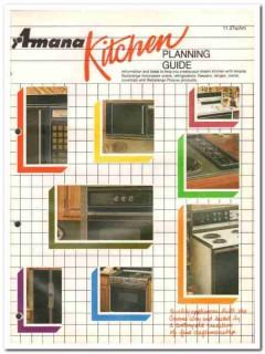 Amana Refrigeration Inc 1982 Vintage Catalog Kitchen Planning Guide