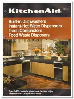 Hobart Corp 1982 Vintage Catalog Appliances KitchenAid Dishwashers