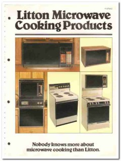 Litton Systems Inc 1982 Vintage Catalog Microwave Cooking Products