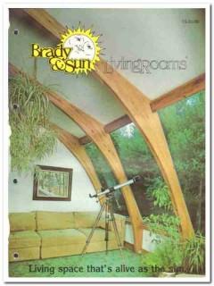 Brady Sun Livingrooms Inc 1982 Vintage Catalog Living Space Alive Sun