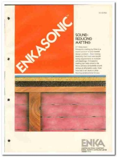 American Enka Company 1982 Vintage Catalog Sound Reducing Enkasonic