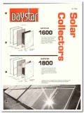 American Solar King Corp 1982 Vintage Catalog Daystar Collectors Roof