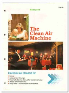 Honeywell 1982 Vintage Catalog Electronic Air Cleaners Commercial Home