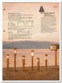 Idaho Wood Industries Inc 1982 Vintage Catalog Pole Lighting Bathroom