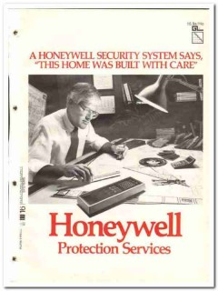 Honeywell Protection Services 1982 Vintage Catalog Home Security Alarm