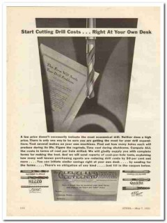 cleveland twist drill company 1931 start cutting costs tool vintage ad