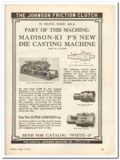 carlyle johnson machine company 1931 friction clutch vintage ad