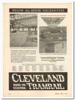 cleveland crane engineering company 1931 hook necessities vintage ad