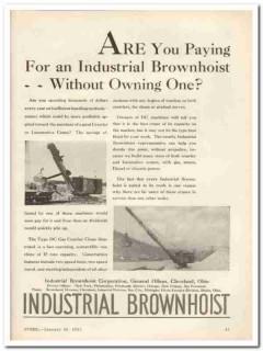 industrial brownhoist corp 1931 type dc gas crawler crane vintage ad