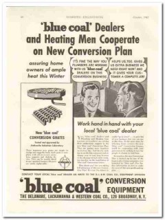 delaware lackawanna western coal company 1942 conversion vintage ad