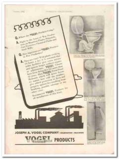 joseph a vogel company 1942 war production plumbing product vintage ad