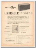 a e s inc 1961 gigolo miracle sound speaker system vintage ad