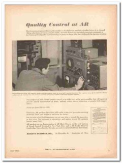 acoustic research inc 1961 ar speaker quality control vintage ad