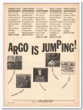 argo records 1961 jumping lewis moody clarke bailey jazz vintage ad
