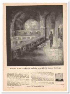 audio dynamics corp 1961 exhibition adc-1 stereo cartridge vintage ad