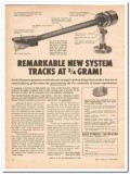 audio dynamics corp 1961 pritchard pickup system tone arm vintage ad