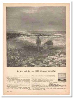 audio dynamics corp 1961 la mer adc-1 stereo cartridge vintage ad
