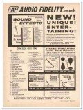 audio fidelity inc 1961 entertaining sound effects record vintage ad
