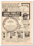 audio fidelity inc 1961 percussive jazz stroboscopic record vintage ad