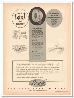 bozak inc 1961 bard supplementary loudspeaker speaker vintage ad