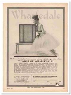 british industries corp 1961 wharfdale w-70 stereo speaker vintage ad