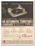 british industries corp 1961 garrard type a turntable vintage ad