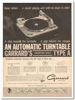 british industries corp 1961 garrard type a turntable vintage ad