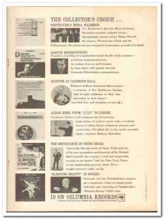 columbia records 1961 collectors choice beethoven bartok vintage ad