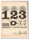 command records 1961 1-2-3 selling stereo albums vintage ad