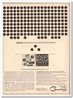 command records 1961 persuasive provocative percussive vintage ad