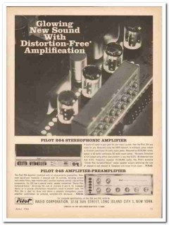 pilot radio corp 1961 model 248 264 stereophonic amplifier vintage ad
