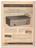 altec lansing corp 1960 fm tuner 308a 306a high fidelity vintage ad
