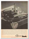british industries corp 1960 garrard record player motor vintage ad