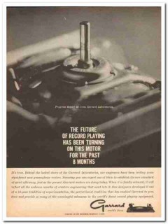 british industries corp 1960 garrard record player motor vintage ad