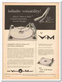 v-m corp 1960 deluxe stere-o-matic 4-speed record changer vintage ad