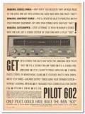 pilot radio corp 1960 602 am fm stereo receiver tuner amp vintage ad