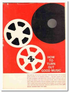 ampex audio company 1960 united stereo tapes good music vintage ad