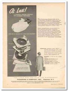 pickering company 1962 u38at automatic turntable cartridge  vintage ad