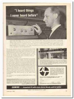 acoustic technology labs 1963 acoustech i anton schmitt vintage ad