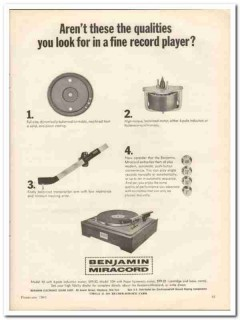 benjamin electronic sound corp 1963 model 10 record player vintage ad