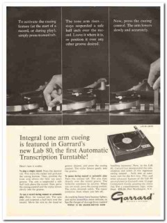 garrard sales corp 1964 lab-80 automatic turntable stereo vintage ad